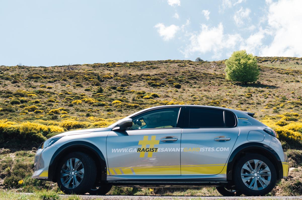 Road trip électrique en voiture de courtoisie Peugeot e-208 #GaragistesAvantGardistes !